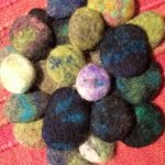 merino felted pebble