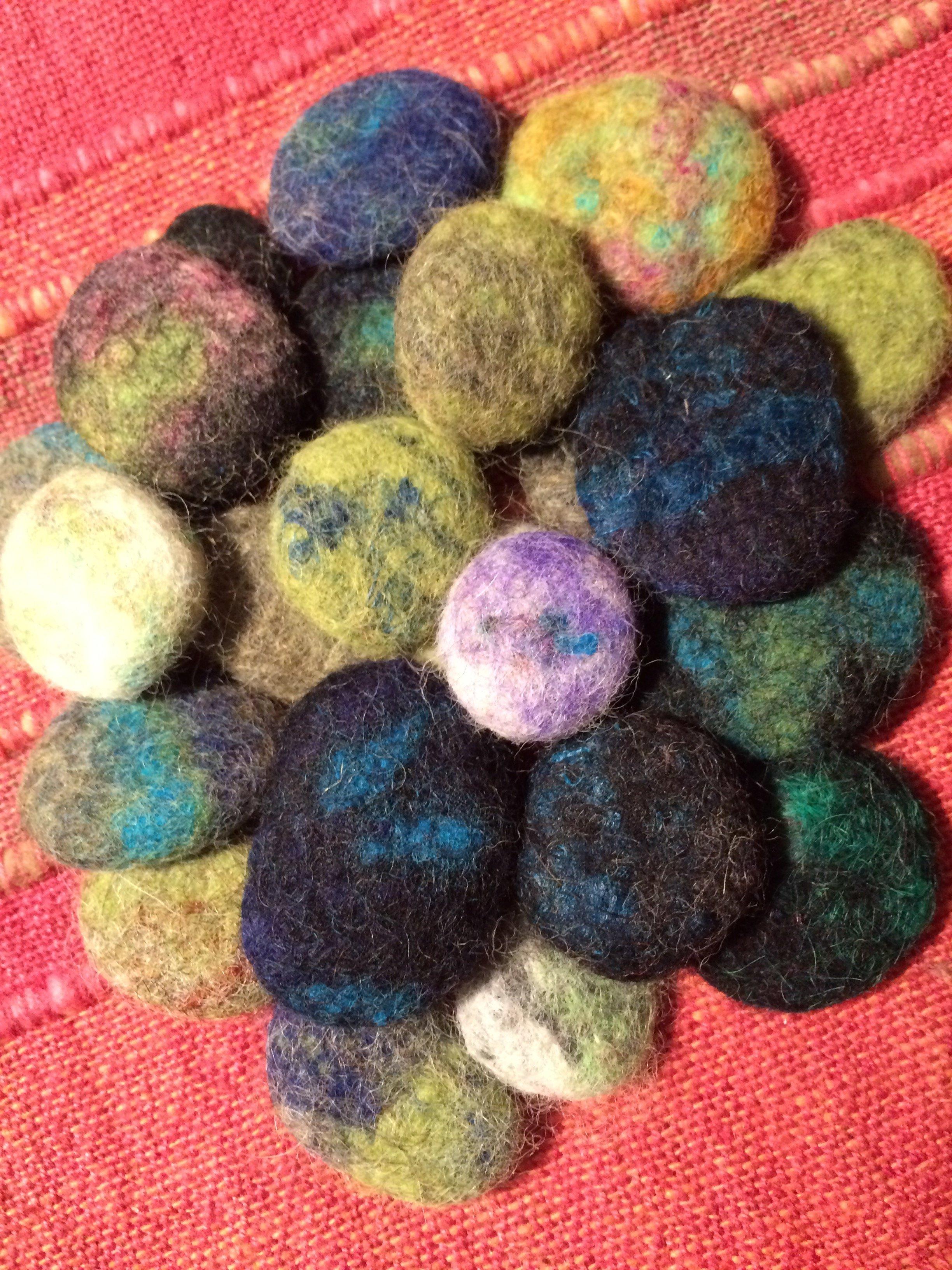 merino felted pebble