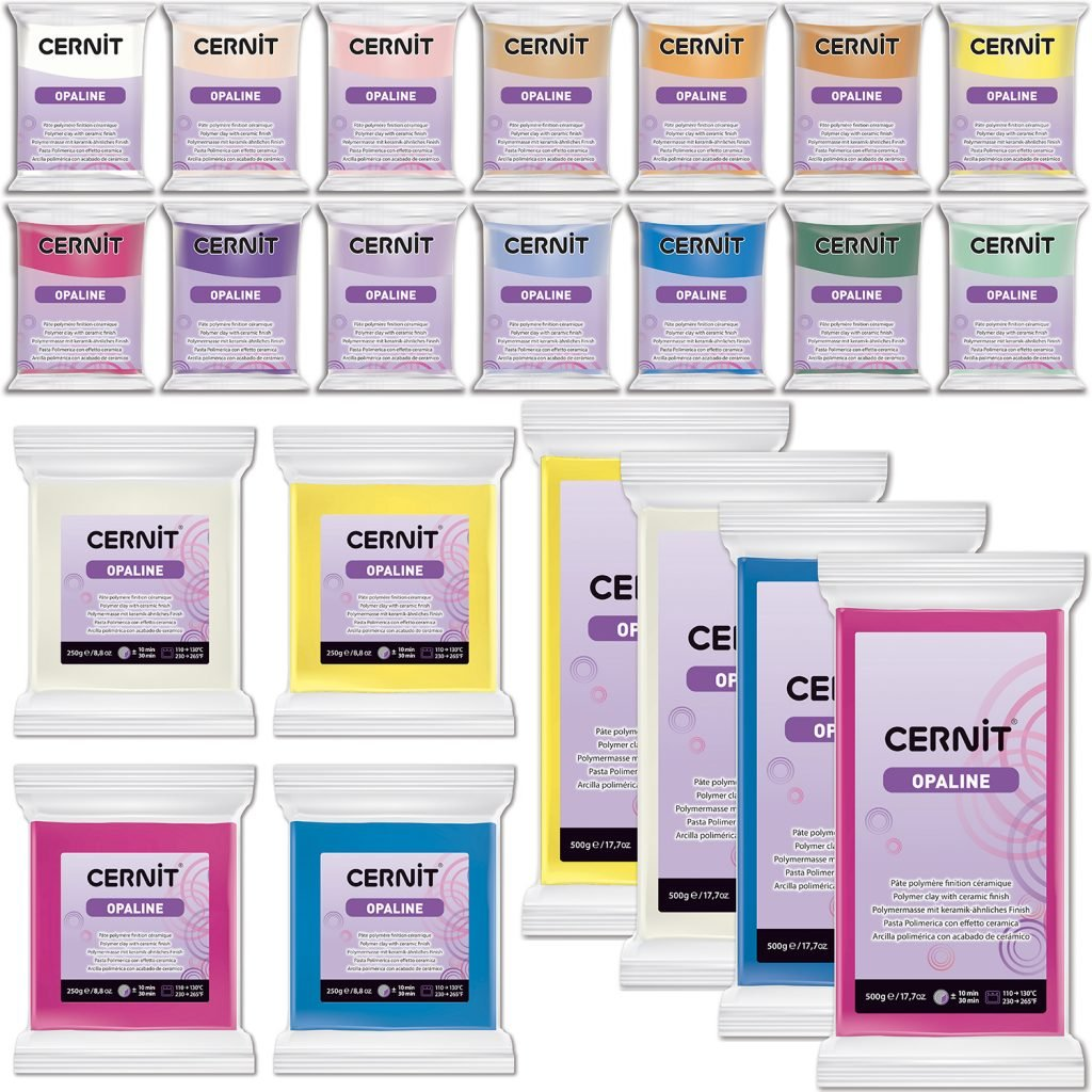 Cernit is a polymer clay for modeling.
